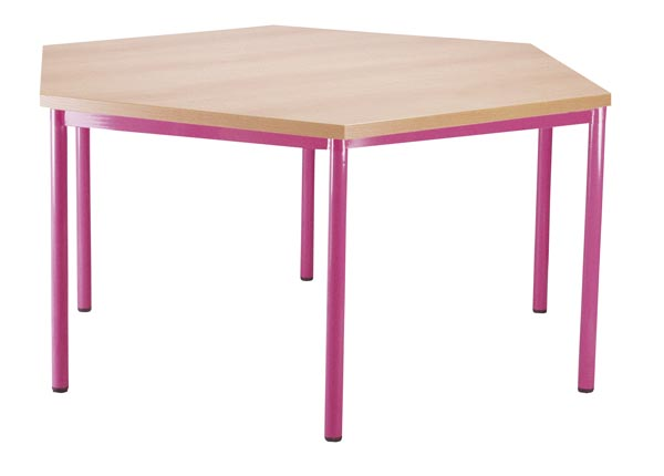 Table hexagonale 120cm