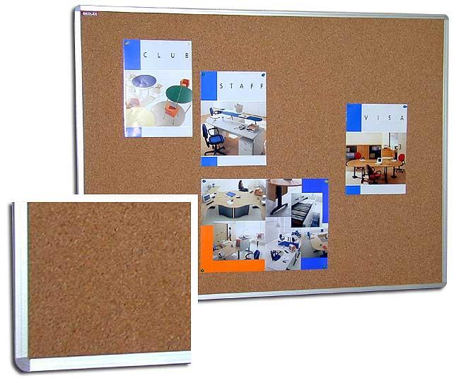 Tableaux d'affichage, cadre alu, 240 x 120 cm
