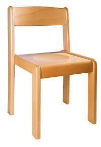 Houten stoel 34 cm