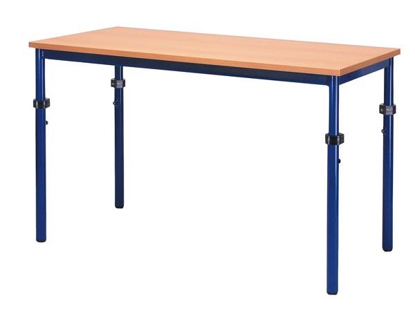 Rechthoekige tafel 120x60cm