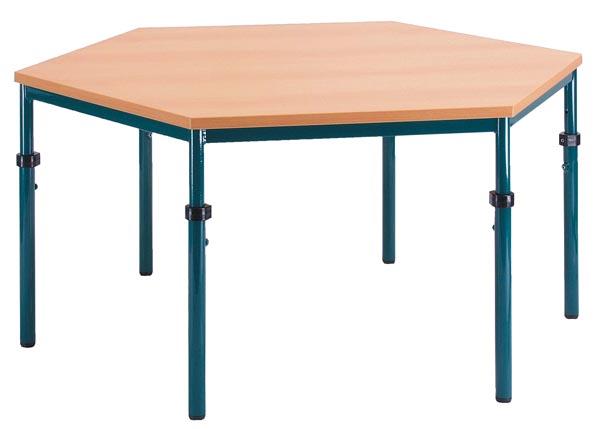 Zeshoekige tafel 120cm