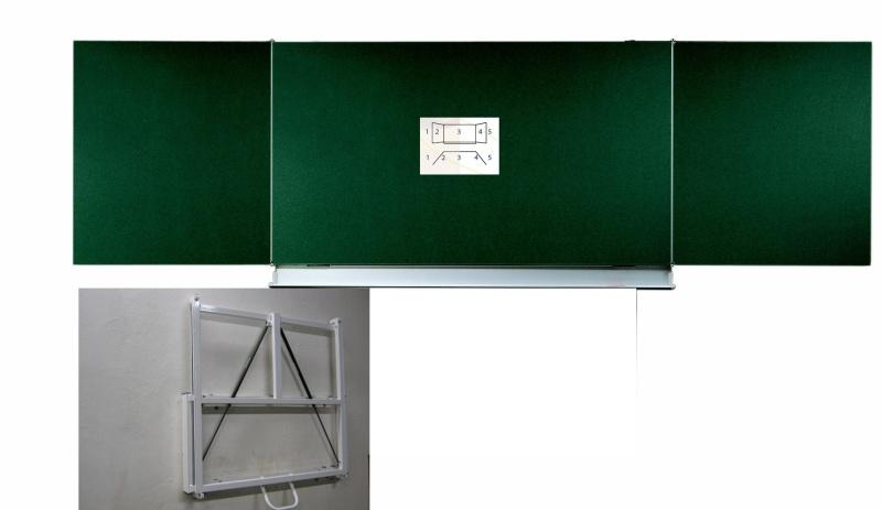 Tableau coulissant à vérins L 400 x H 100 cm