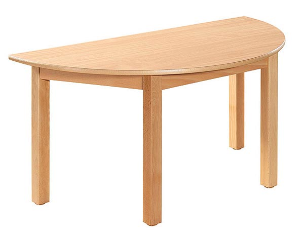 Table demi ronde. Diamètre 120/60 cm